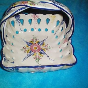 RCCL Hand Painted Twisted Handle Basket - Portugal